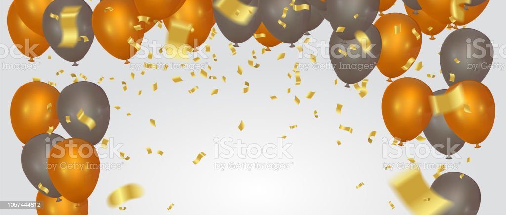 Happy Color Background Happy Birthday Holiday Banner With