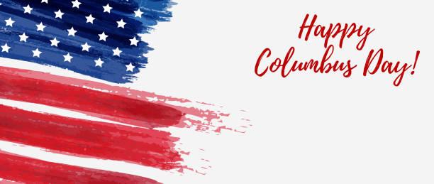 해피 콜럼버스의 날 - columbus day stock illustrations