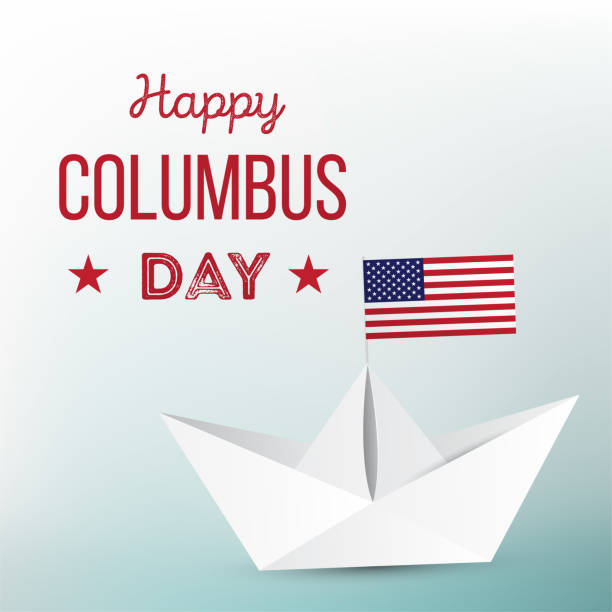 happy columbus day. - memorial day stock illustrations