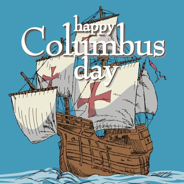 Best Christopher Columbus Illustrations, Royalty-Free ...