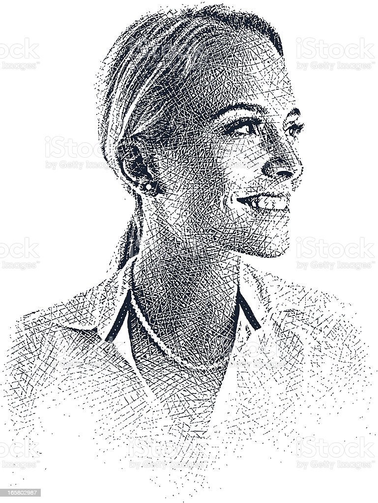 Happy, Confident Businesswoman vector art illustration
