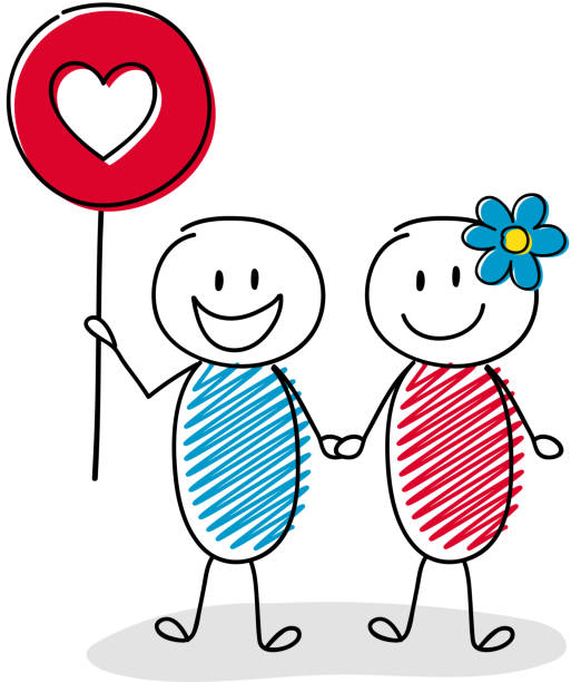 Download Clip Art Of Stick Figure Couples Illustrations, Royalty ...