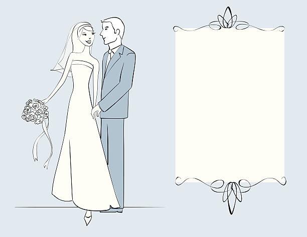 happy couple - heather mcgrath stock illustrations