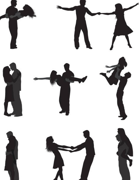 Tanzendes Paar Stock-Vektoren und -Grafiken - iStock