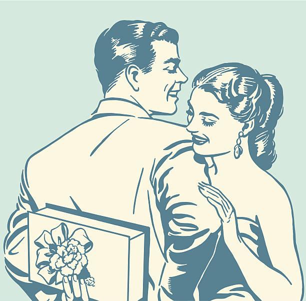 Heureux Couple - Illustration vectorielle