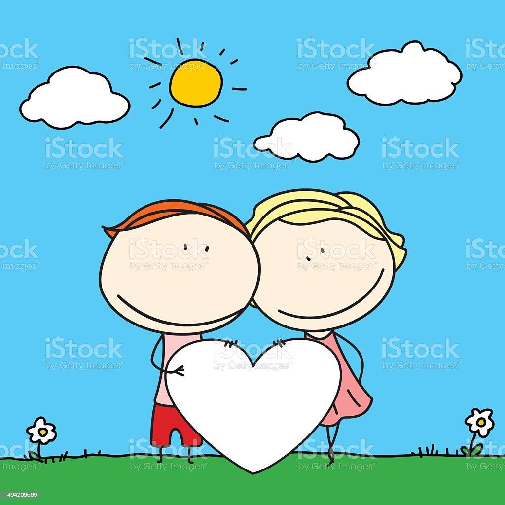 幸せなカップル のイラスト素材 494209569 | istock