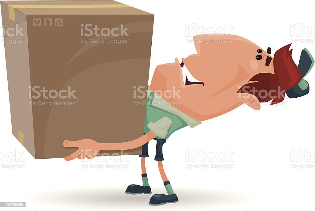 happy courier royalty-free stock vector art