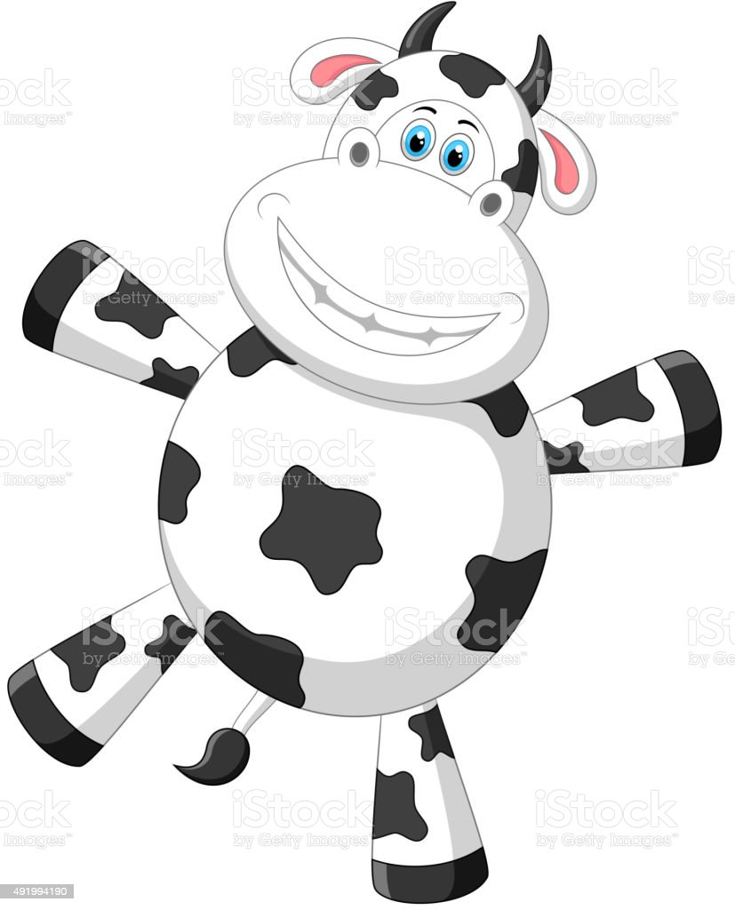 happy cow cartoon stock vector art 491994190 istock