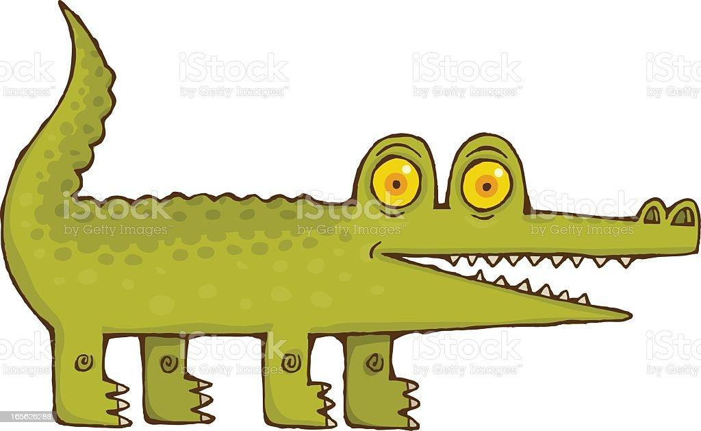 Happy Crocodile royalty-free stock vector art