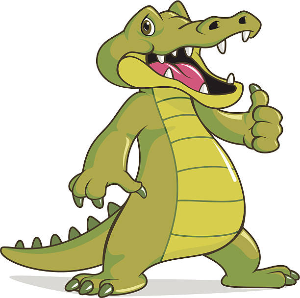 Happy Crocodile vector art illustration