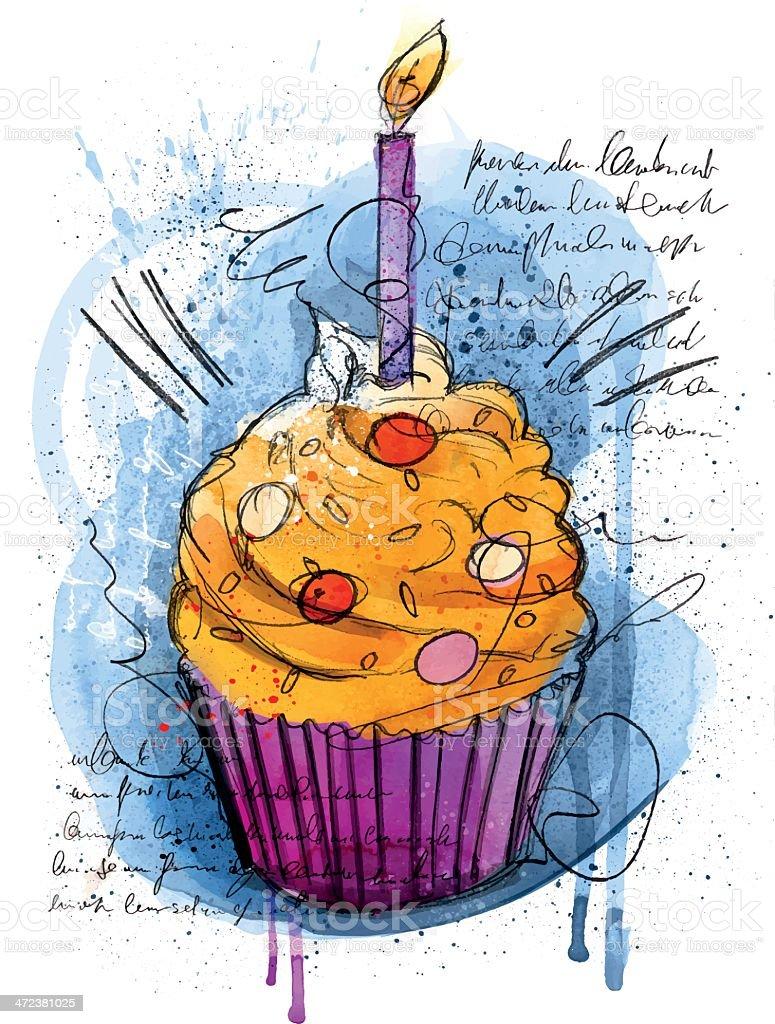 Happy Cupcake royalty-free stock vector art