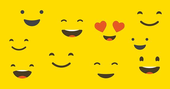 Happy customer, satisfaction clients, concept design clipart