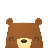 Happy cute bear character