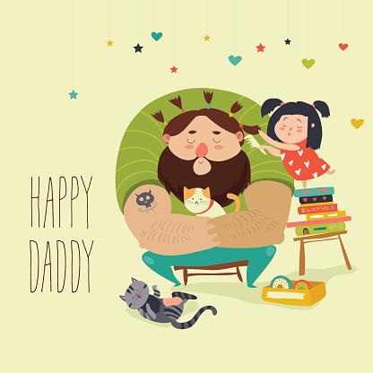 Daughter makes her dad happy