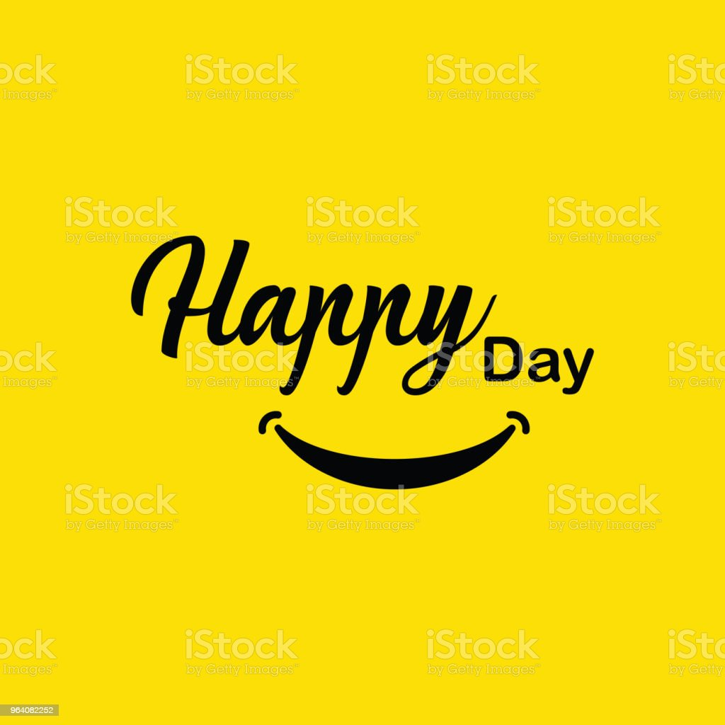 Happy Day Vector Template Design - Grafika wektorowa royalty-free (Dekoracja)