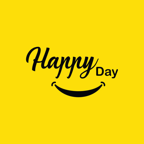 illustrazioni stock, clip art, cartoni animati e icone di tendenza di happy day vector template design - sorriso