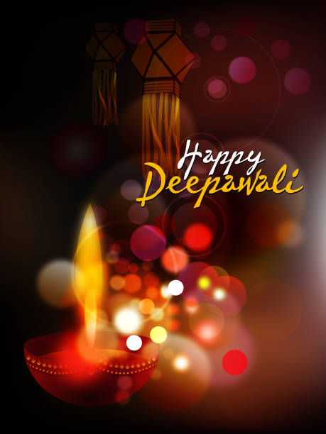 ilustraciones, imágenes clip art, dibujos animados e iconos de stock de happy deepawali background - diwali
