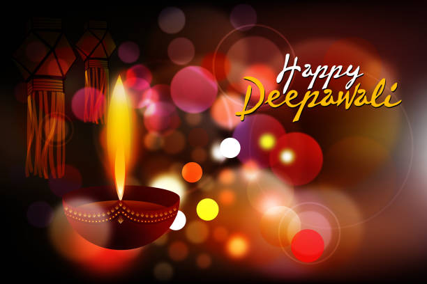 happy deepawali background - diwali stock illustrations, clip art, cartoons, & icons
