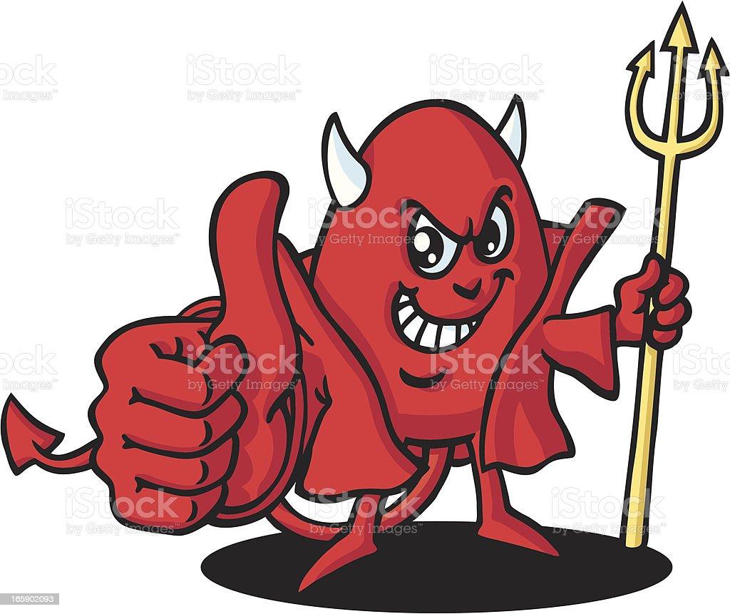 Happy Devil vector art illustration