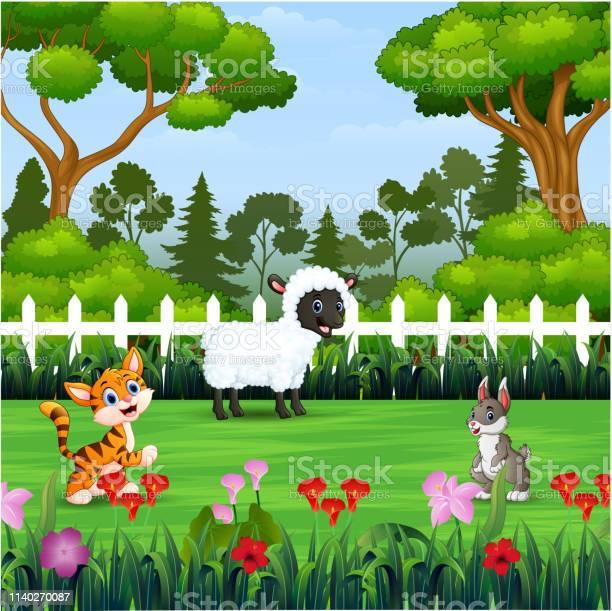 Happy different animal in the park vector id1140270087?b=1&k=6&m=1140270087&s=612x612&h=pj8sxbsu arxle1ttsfsbduguts1zrnlrntk95p3gak=