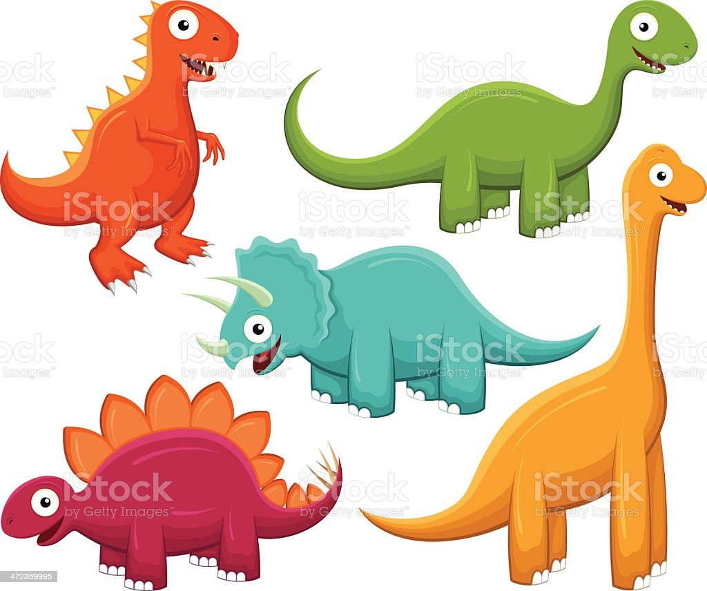 Happy Dinos royalty-free stock vector art