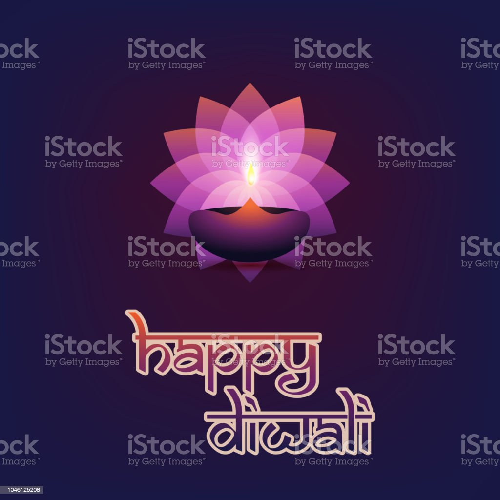 Happy Diwali Abstract Greeting Card Or Background Stock Vector Art