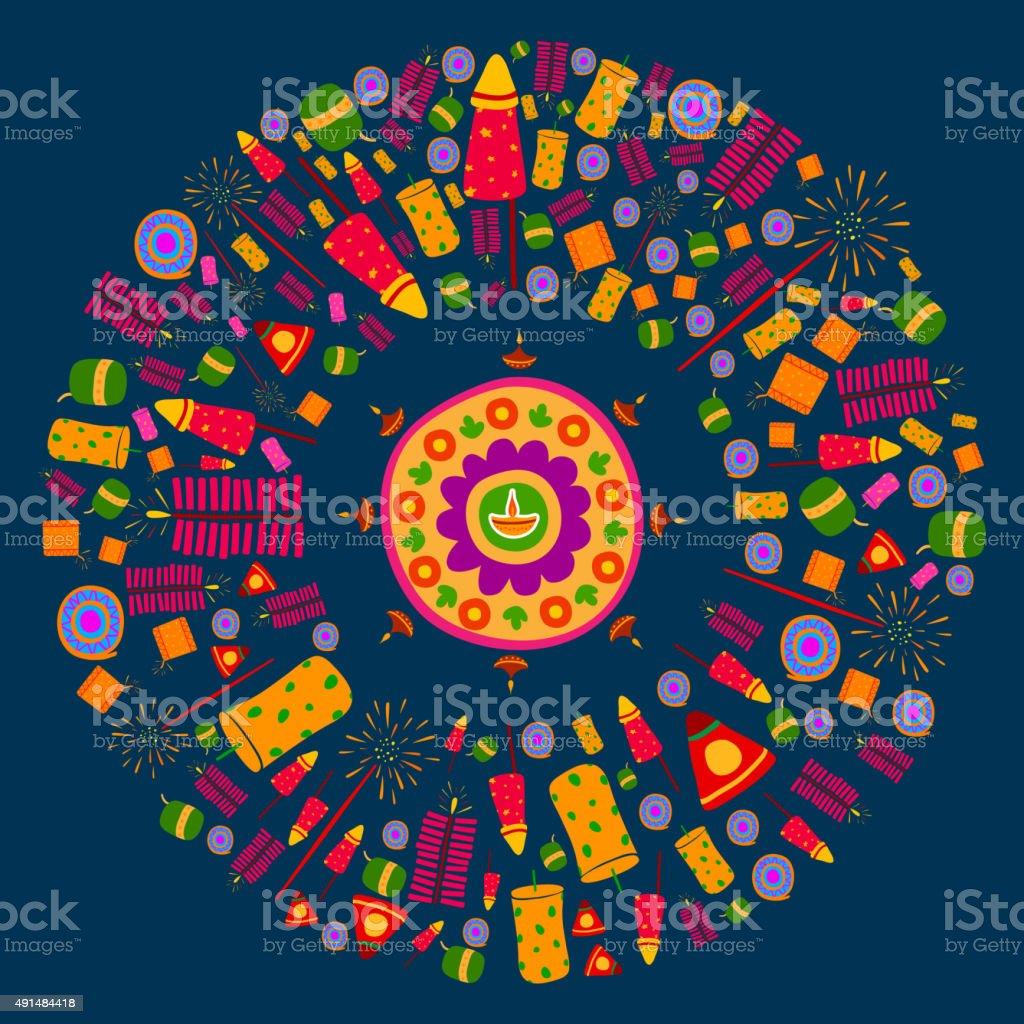 Happy Diwali celebration background vector art illustration