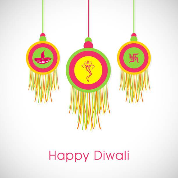 Royalty Free Diwali Hanging Lamp Clip Art, Vector Images