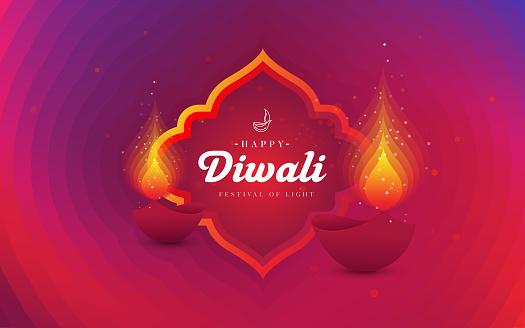 Happy Diwali Festival Greeting Background