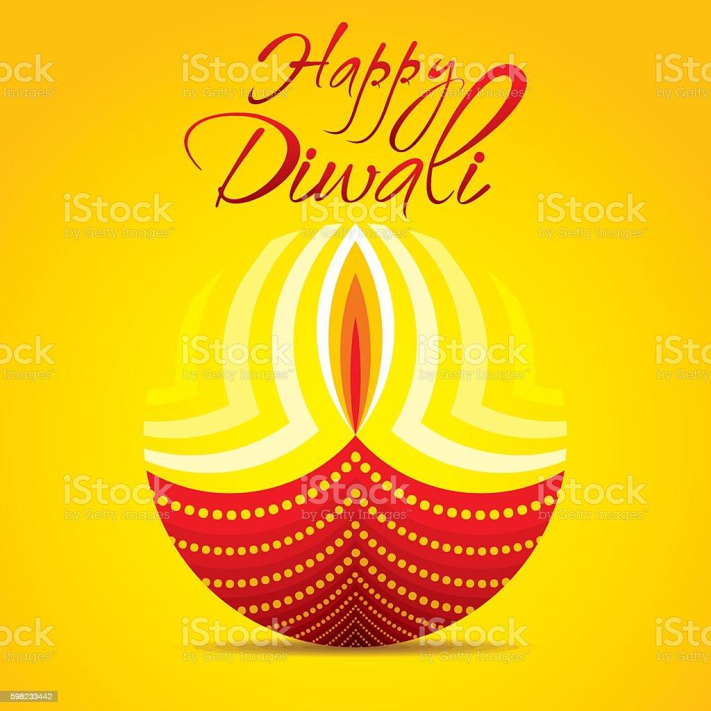happy diwali festival greeting design ilustração de happy diwali festival greeting design e mais banco de imagens de amarelo royalty-free