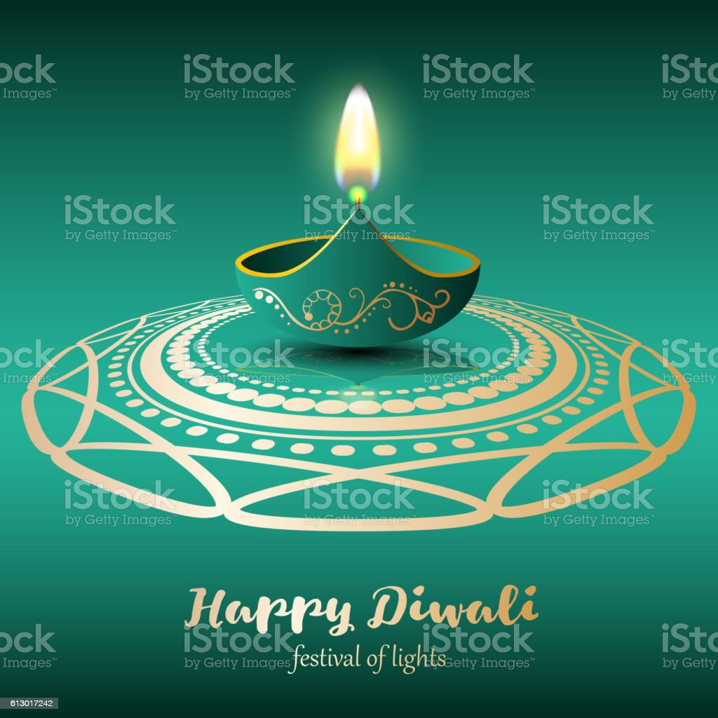 Happy Diwali. Festival of lights vector art illustration