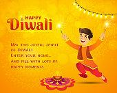 cartoon, children, india, diwali, firecracker, jumping