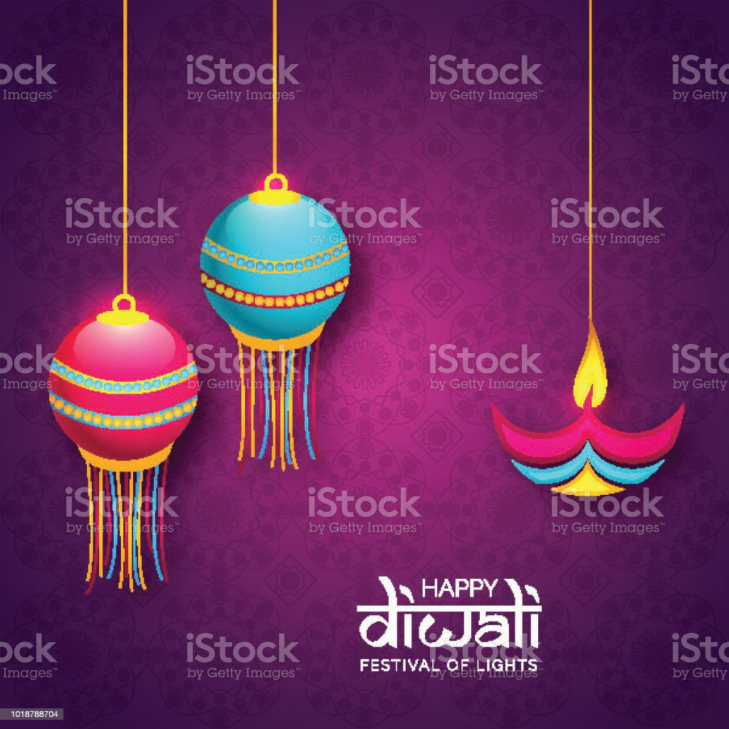 Happy Diwali Greeting Card Design Illustration Of Creative