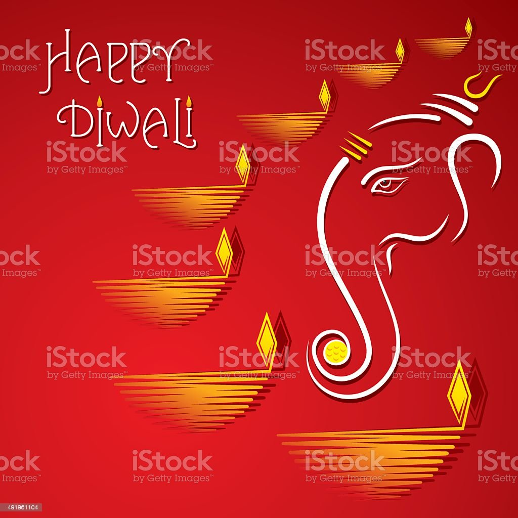 Happy diwali greeting card design stock vector art more images of happy diwali greeting card design royalty free happy diwali greeting card design stock vector art m4hsunfo Images
