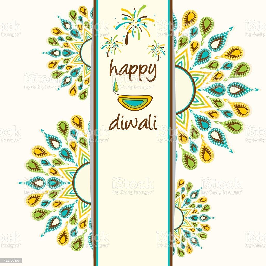 Happy Diwali Greeting Card Design Stock Vector Art More Images Of