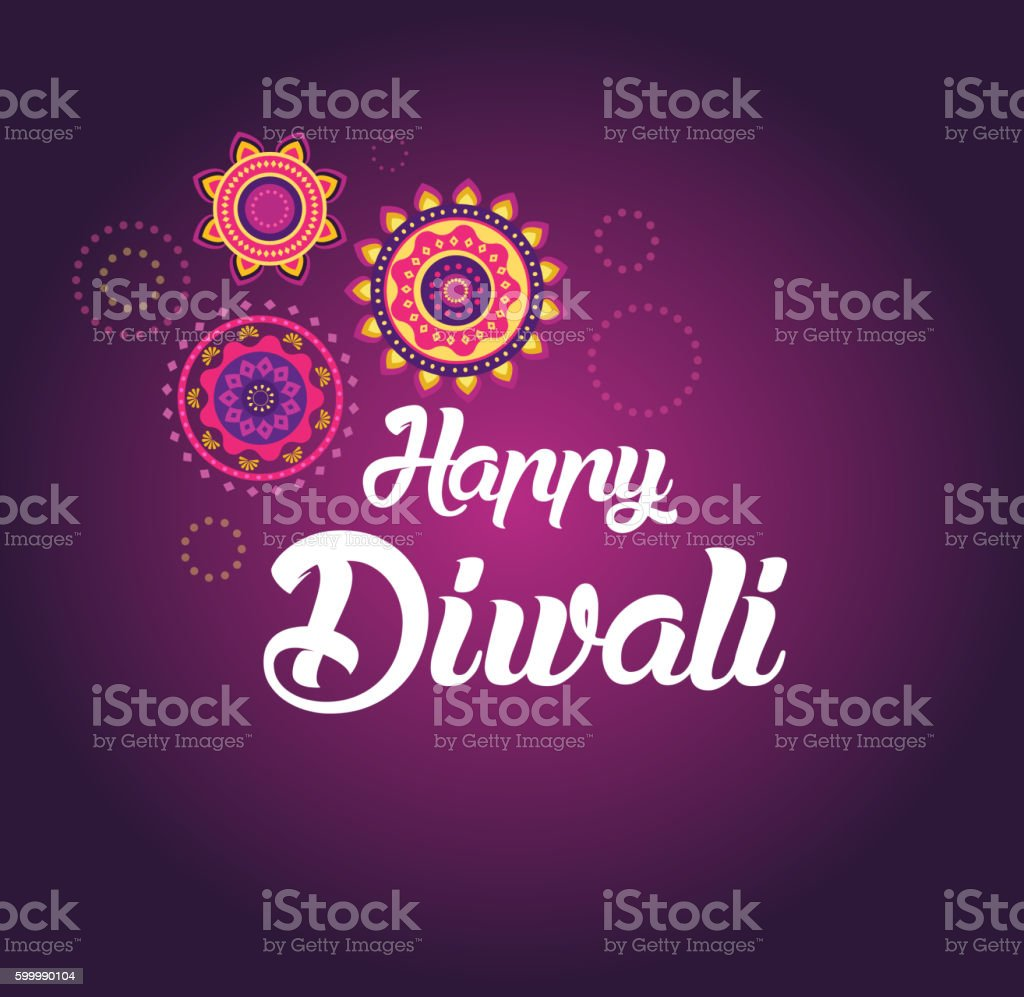 Happy Diwali greeting card for Hindu community, Indian festival ベクターアートイラスト