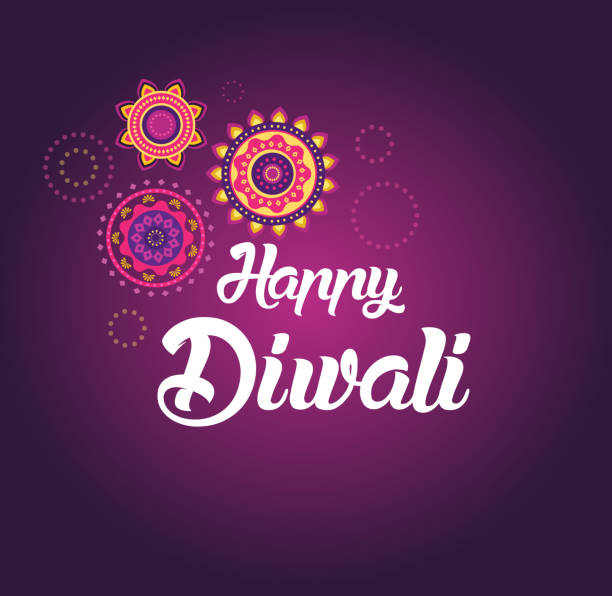 Happy Diwali greeting card for Hindu community, Indian festival ベクターアートイラスト