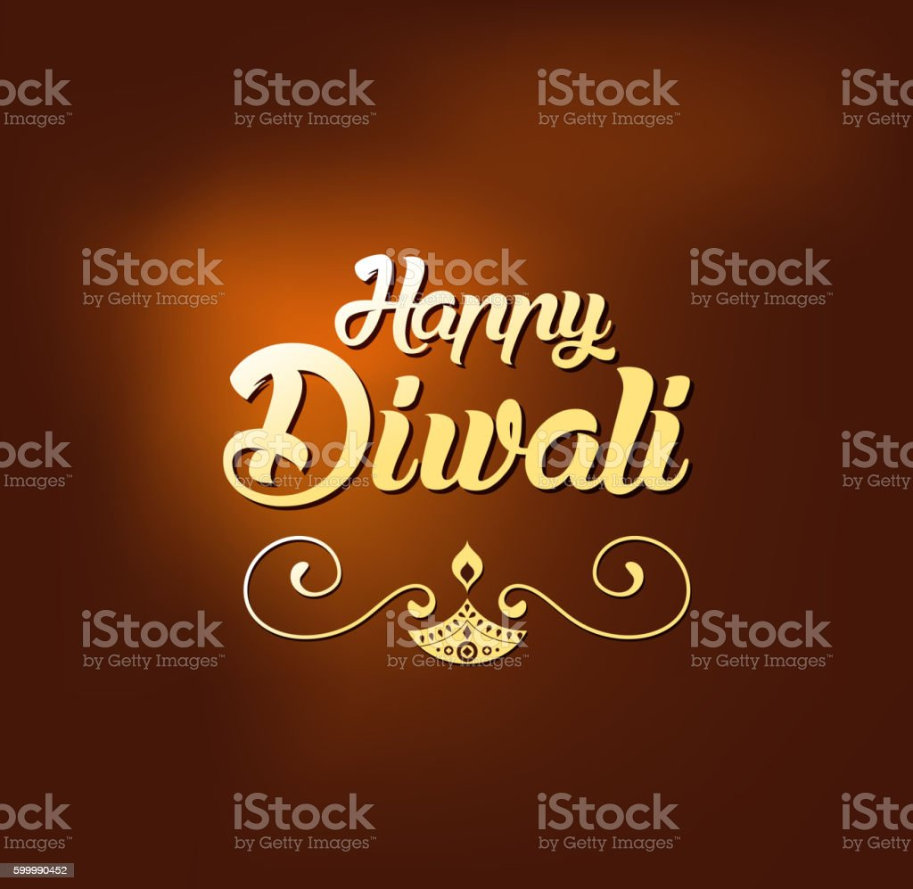 Happy Diwali Greeting Card For Hindu Community Indian Festival Stock