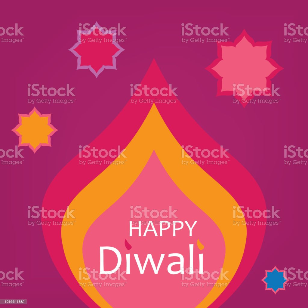 Happy Diwali Greeting Card Stock Vector Art More Images Of