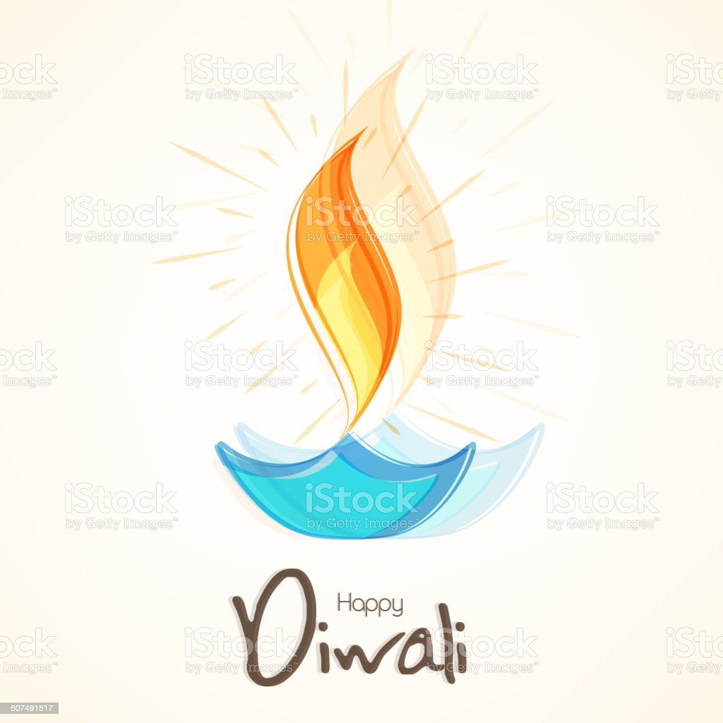 Happy diwali greeting card with illuminated colorful oil lit lamp happy diwali greeting card with illuminated colorful oil lit lamp royalty free happy diwali m4hsunfo