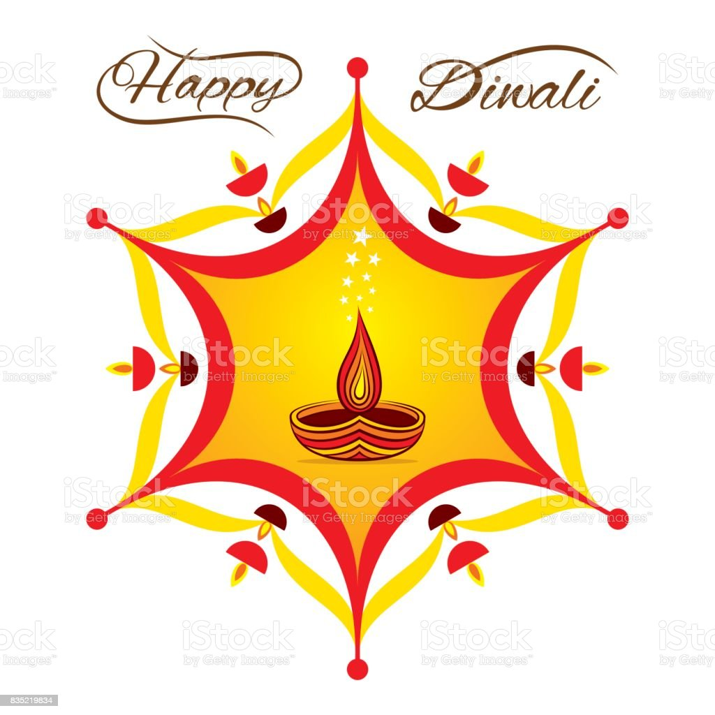 Happy Diwali Greeting Design Stock Vector Art More Images Of