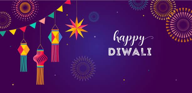 Happy Diwali Hindu festival banner, greeting card. Burning diya illustration, background for light festival of India Happy Diwali Hindu festival banner, greeting card. Burning diya illustration, background for light festival of India diwali stock illustrations