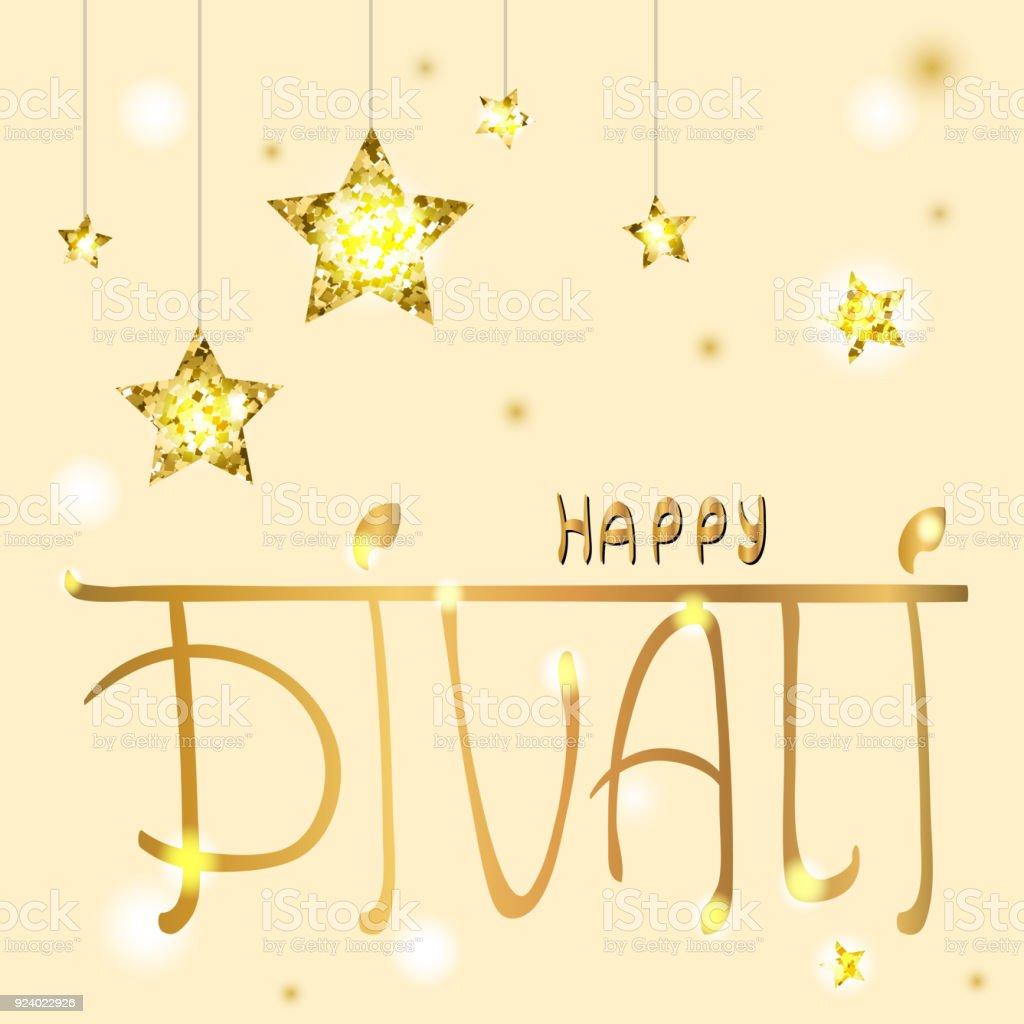 Happy Diwali Gruß Weihnachtskarte Stock Vektor Art und mehr Bilder ...