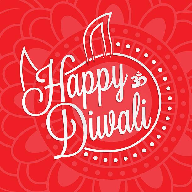 happy diwali schriftzug - mantra stock-grafiken, -clipart, -cartoons und -symbole