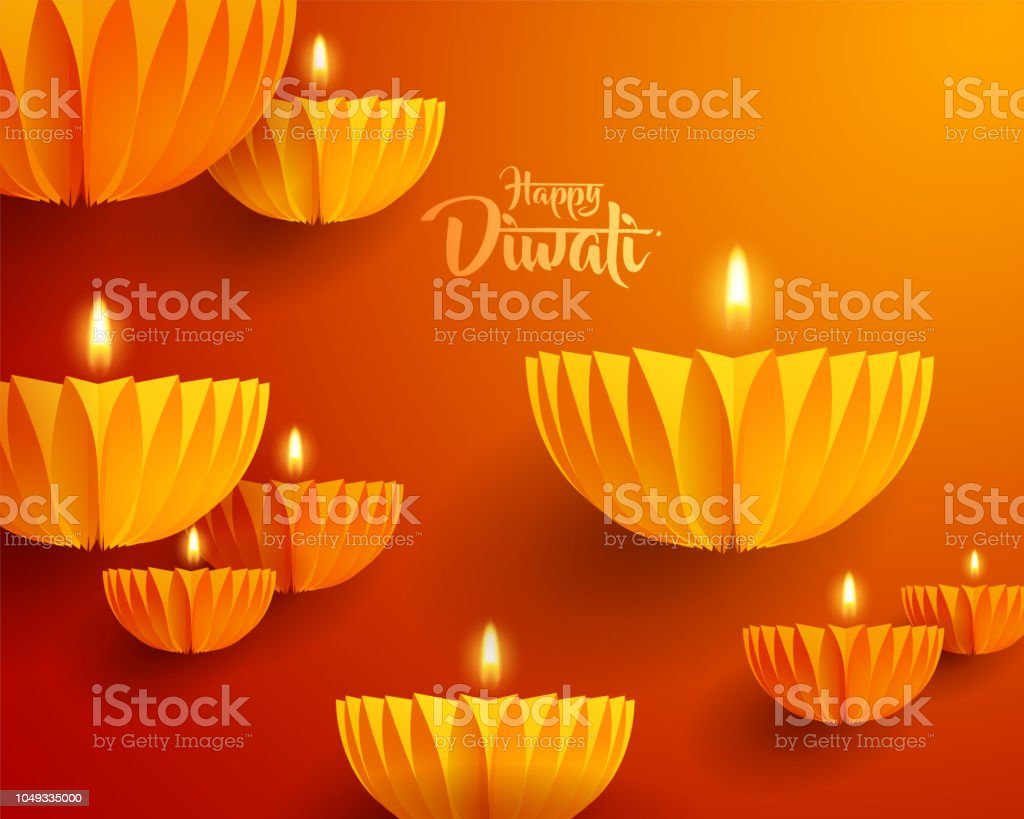Joyeux Diwali Graphique De Document De Conception De Lampe Huile