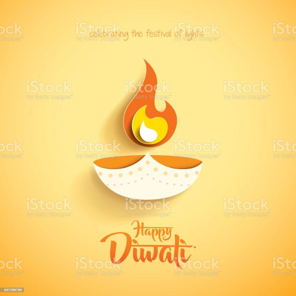 Happy Diwali Paper Graphic Of Indian Diya Oil Lamp Design Stock ... for Diwali Lamps Designs  181pct