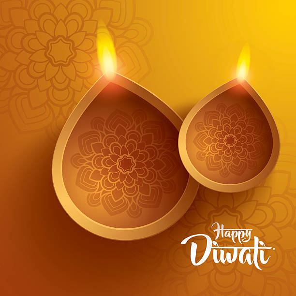 happy diwali. traditional indian diya oil lamp. - diwali stock illustrations, clip art, cartoons, & icons