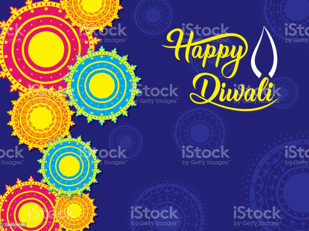 Happy diwali traditional indian festival greeting card stock vector happy diwali traditional indian festival greeting card royalty free happy diwali traditional indian festival greeting m4hsunfo