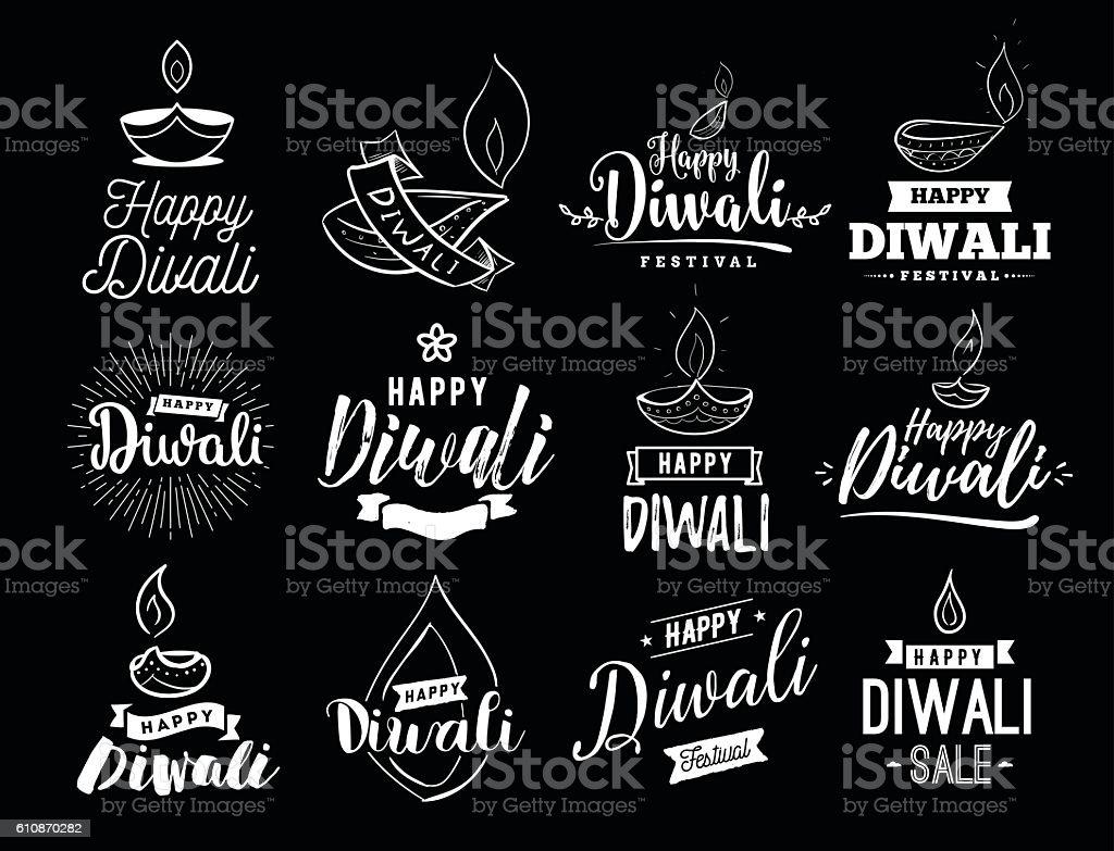 Happy Diwali typogrpahy - Illustration vectorielle