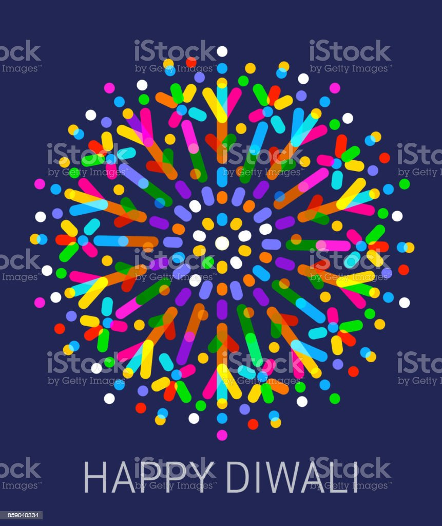 Happy Diwali vector art illustration